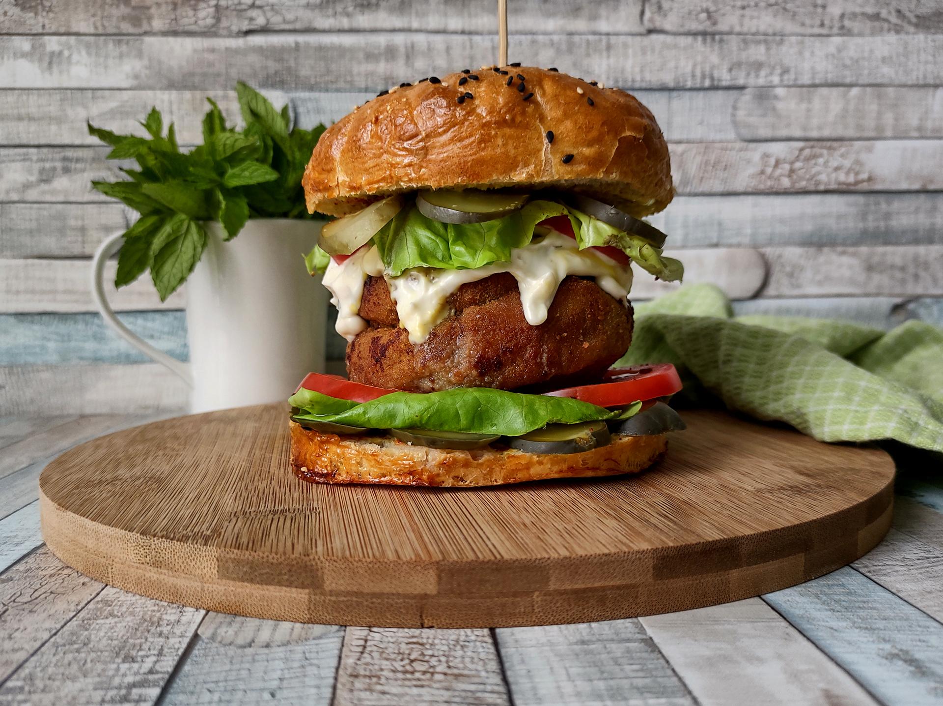 hamburger nadesce dokrojenia