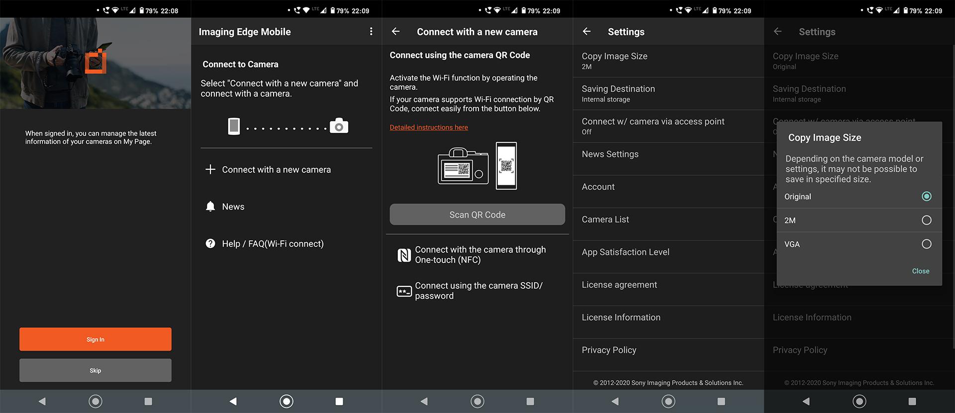 Zrzuty ekranu zaplikacji dla telefonu